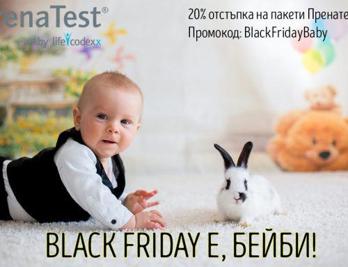 Специално предложение – Черен петък с Пренатест! Вземете 20% отстъпка